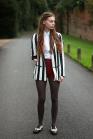 fashion outfit zara Asos blazer collar brogues blogger mandeville sisters