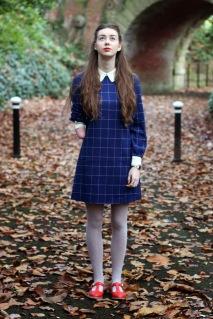Pembroke dress Grace Mandeville collar vintage woods red shoes school girl