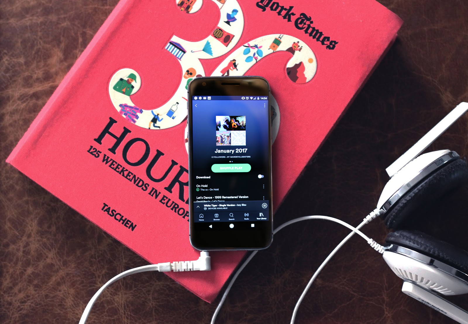 January music, top tracks, indie hits, January playlist, 36 hours book, google pixel
